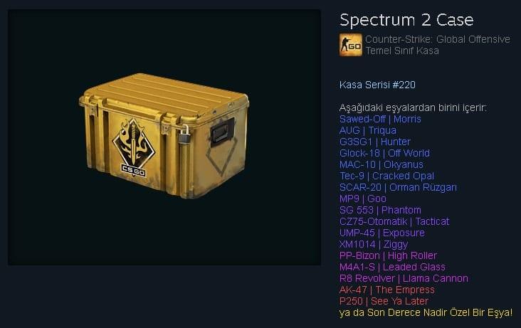 cs go spectrum 2 kasasi incelemesi detaylari